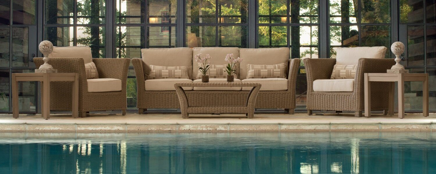 Brighton Patio Furniture Outdoor Wicker Sectional With Hampton Fire Pit - Patio Furniture Columbia Sc : Bhbr.info