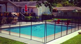 Gunite with Child Safety Fencing
